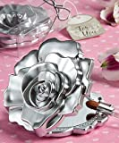 Fashioncraft, Wedding Party Bridal Shower Favors, Realistic Rose Design Mirror Compacts, Set of 40 For Sale
