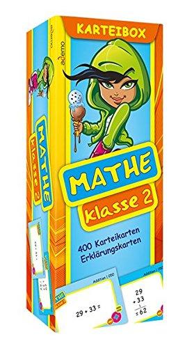 Karteibox Mathe Klasse 2: mit farbigen Karteikarten
