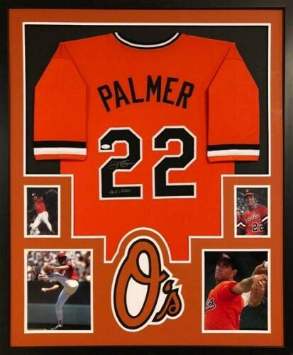 9e6e679dc Image Unavailable. Image not available for. Color  Jim Palmer quot HOF  1990 quot  Signed Orioles Custm Jersey Framed ...