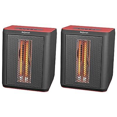 LifeSmart 3 Element Infrared Electric Portable Desktop Heater & Fan (Pair)