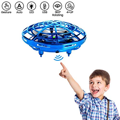Bix Flying Toys Drone, Hand-Operated Flying Ball, Interactive Infrared Induction Helicopter Ball 360° Rotating Shinning LED Lights, Flying Toy Boys Girls Kids Holiday Birthday Gifts by Bix (Image #7)