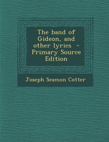Band of Gideon, and Other Lyrics