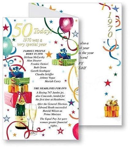 Tarjeta de felicitación de 50 cumpleaños para hombre, con ...