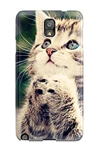 Asbarn Case Cover Protector Specially Made For Galaxy Note 3 Cat Cute