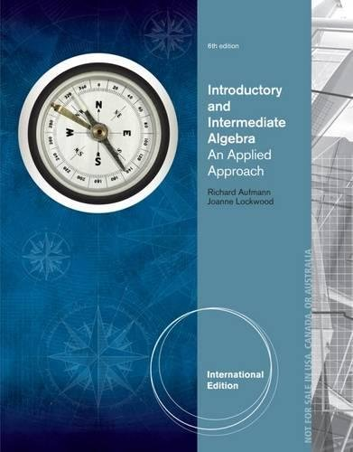 Introductory and Intermediate Algebra: An Applied Approach, International Edition
