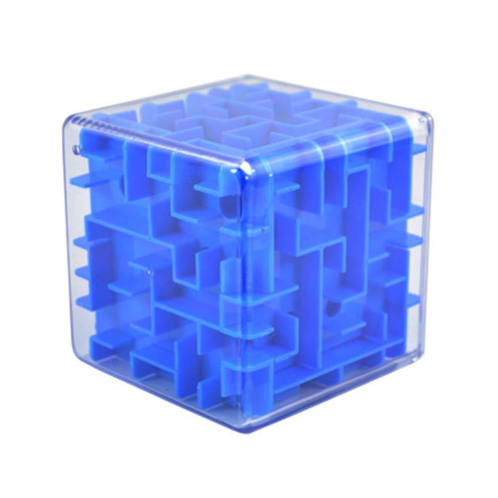 SHENSHOU 3D Three-Dimensional Labyrinth Ball Children's Puzzle Rubik's Cube Toy,Blue
