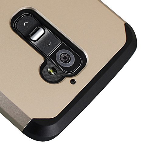 LG G2 Case, Kuteck® Defender Series Protective Case Cover for LG G2 (AT&T, Sprint, T-Mobile Only), Include 1x Stylus Pen (Champagne Gold) (G2 Champagne Gold Lg Case)