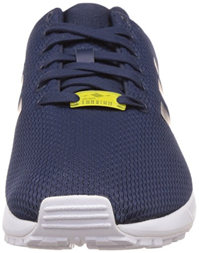 adidas New Unisex Scarpe Navy Blu White New Running ZX Flux Navy qwqRxf4