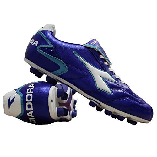 Diadora Zapatillas Fútbol Zonda 10Lt MD PU Blue/White