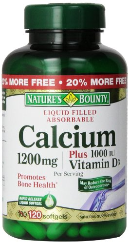 Natures Bounty Calcium Plus vitamine D Twin Pack, 1200 mg, 240 comte
