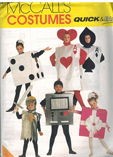 8308 McCalls Sewing Pattern UNCUT Adult Halloween Costume Playing Cards Video Game Dice Die Gift Size Adult 32 - 48