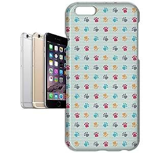 Phone Case For Apple iPhone 6 Plus - Paw Prints Designer Wrap-Around
