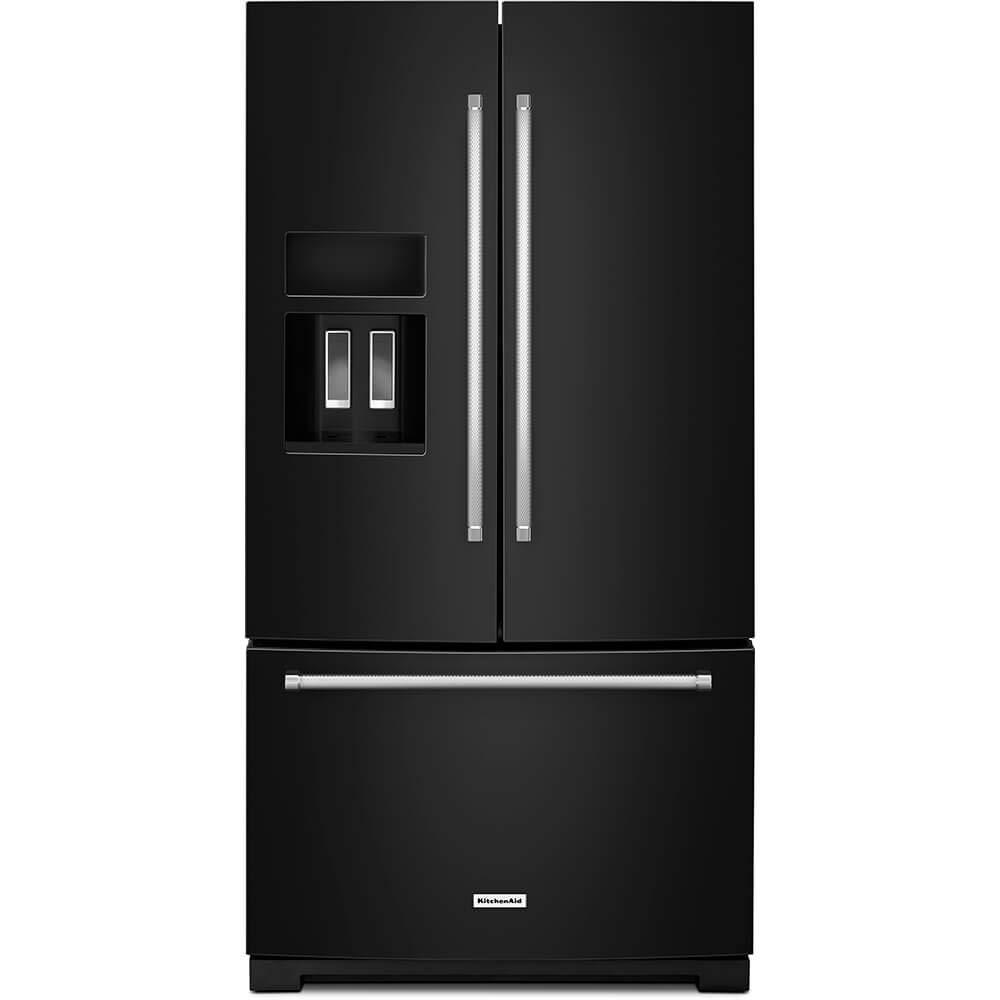 KitchenAid KRFF507HBL 26.8 Cu. Ft. Black French Door Refrigerator