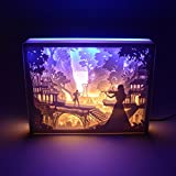 Jonyou Papercut Light Box,3D LED Night Light for Adult Kids Baby Nursery,Decorative Lamp in Bedroom,with USB Cable and Adapter (Falling in Love with the Music)