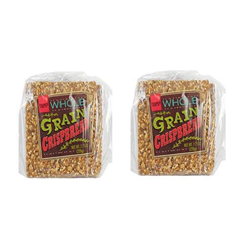 Trader Joe's Whole Grain Crispbread 7.75 Ounce Bag (2 Pack) (Trader Joe Bread)