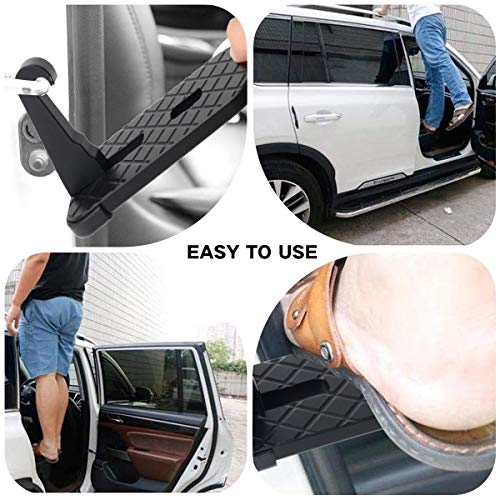 Car Doorstep Vehicle Hooked Folding Ladder Foot Pegs U Shaped Slam Latch with Safety Hammer for Jeep Car SUV, Easy Access to Car Rooftop Roof-rack by CESHUMD (Image #5)