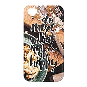 Loud Universe Apple iPhone 4/4s 3D Wrap Around Do More of What Makes You Happy Print Cover - Multi Color