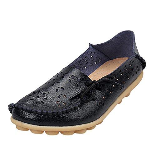 Flat Shoes for Women- TUDUZ women Beijing style sandal summer autumn ladies flat boat shoes casual Black WFXWEh4