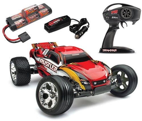 Traxxas 37054-1 Rustler: Stadium Truck, Ready-To-Race (1/10 Scale), Colors May Vary