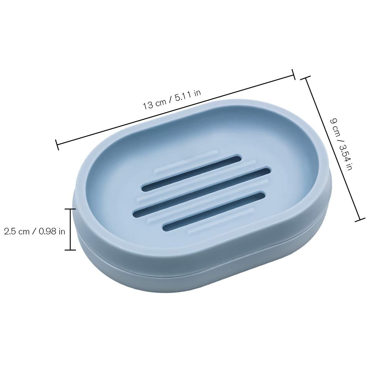 Scatola di Sapone Doccia per lavello Cucina Bagno 2/Pezzi Blue Ulable Sapone Case Holder Self drenante portasapone Saver