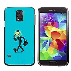 YiPhone /// Prima de resorte delgada de la cubierta del caso de Shell Armor - Bombilla Hombre en juego - Samsung Galaxy S5