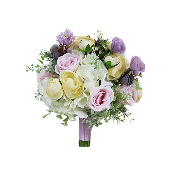 3-Inch Cuteque International 6-Pack Eggplant Soft Silk Cosmo Flower with Yellow Peep Center