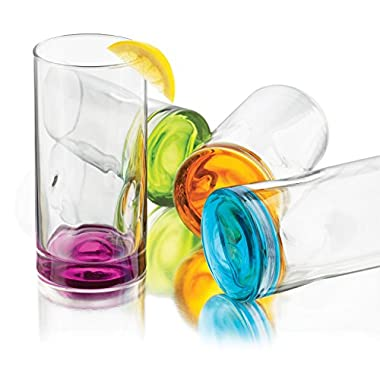 Libbey Impressions Colors Cooler Glass , Set of 8