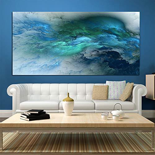 NIMCG Arte Abstracto Estilo Color Lienzo irreal Pintura de la Pared Sala de Estar Gran decoracion Familiar Colgante de Pared Dormitorio Moderno impresion de la Pared (sin Marco) A1 60x120CM