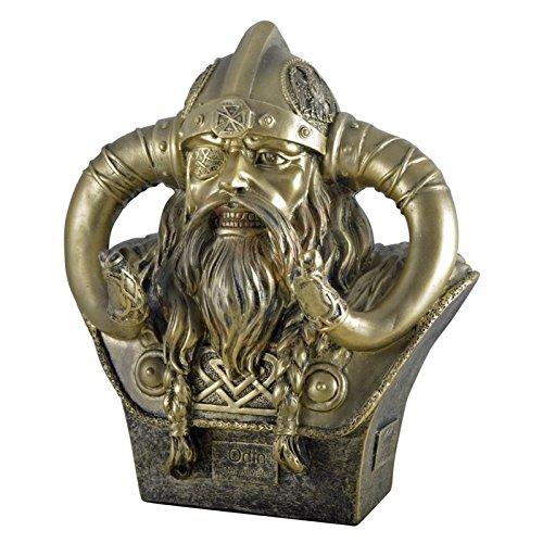Figur Odin, Büste Odin der Allvater, oberster Gott der Wikinger 24cm