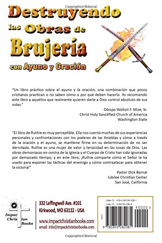 Destruyendo Las Obras De La Brujería Con Ayuno Y Oración Spanish Edition Brown Ruth 9780892282081 Books