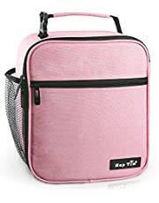 Hap Tim Insulated Lunch Bag For Women Reusable Lunch Box For Girls Spacious Lunchbox Adult Cooler Bag(SG-18645-PK)