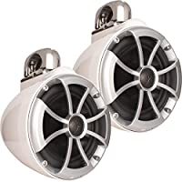 Wet Sounds 2) ICON 8 Fixed Clamp Tower Speakers - Pair White