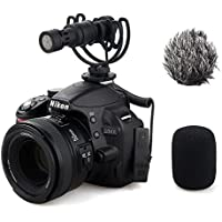 Comica CVM-VM10 Full Metal MINI compact on-camera Cardioid Directional Shotgun Video Microphone with Shock-Mount for Smart phone