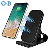 PowMax Wireless Charger Fast Wireless Charger Pad Stand for Samsung Galaxy Note 8 S8 S8 Plus S7 Edge S7 S6 Edge,Standard Chargers (No AC Adapter)