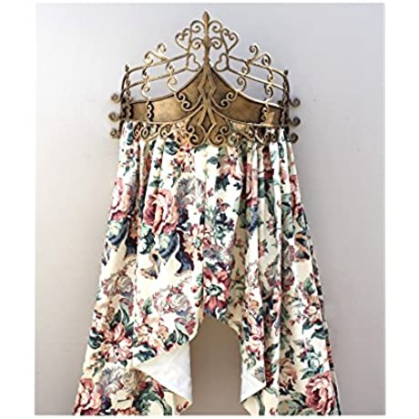 Antique Aged Gold Teester Bed Canopy Or Windows And Door Hardware