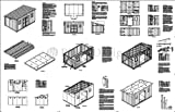 10' x 16' Deluxe Shed Plans, Modern Roof Style