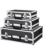 iKayaa 3-delige set transportkoffer gereedschapskoffer met aluminium frame en ABS