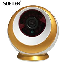 SDETER 1080P 3.0 MP Full HD WiFi IP Security Camera with Night Vision Push Alarm Notification P2P Wireless Baby Monitor Paten Design 355 Horizontal Rotate Include 16G Memory Card