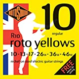 Rotosound R10 Roto Yellows Regular Electric Guitar Strings (10-46)