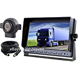 "7"" REAR VIEW BACKUP SIDE CAMERA CAB OBSERVATION SYSTEM FOR EXCAVATOR TRACTOR FORKLIFT"
