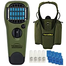 Thermacell 48-Hour Camper's Kit : Mosquito Repellent Appliance (Olive) & Holster with 4 Cartridges, 12 Mats