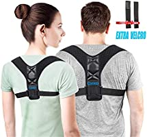 Comezy Back Posture Corrector for Women & Men - Powerful Magic Stickers Adjustable Clavicle Back Brace - Providing Pain...