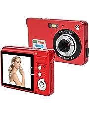 Cámara Digital, Enfoque automático de 18 megapíxeles Zoom Digital de 8 aumentos Pantalla LCD de 2.7 Pulgadas Cámara fotográfica con micrófono para niños Amigos Padres Regalos(Rojo)