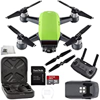 DJI Spark Quadcopter (Meadow Green) + DJI Spark Remote Starter Bundle