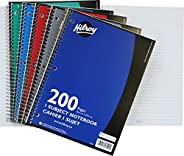 Hilroy Coil 1-subject Wide Ruled Notebook, 10.5 X 8 Inches, 3 Hole Punched, 200 Pages (100 Sheets), 1 Notebook