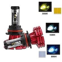 NIGHTEYE 9007 LED Headlight Bulbs - 60W 10000LM (3000K 6500K 8000K) Hi/Lo Beam - 2 Year Warranty