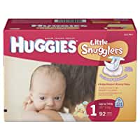 Huggies Little Snugglers Diapers, Size 1, 92-Count