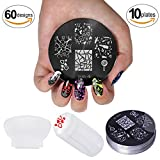 NEW 2012 Cheeky Set of 10 Nail Art Nailart Polish Stamp Stamping Manicure Image Plates Accessories Set + Stampr and Scraper Kit.