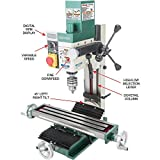 "Grizzly Industrial G0781-4"" x 18"" 3/4 HP Mill/Drill"