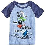 Jumping Beans Boys 4-10 Dr. Seuss One Fish Two Fish Raglan Graphic Tee 8 Royal Snow
